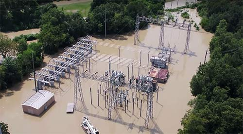 Memorial substation flooding