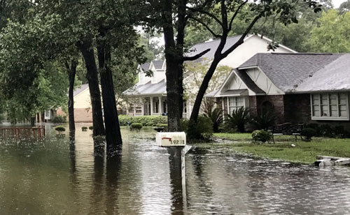 Flooded Street In Houston